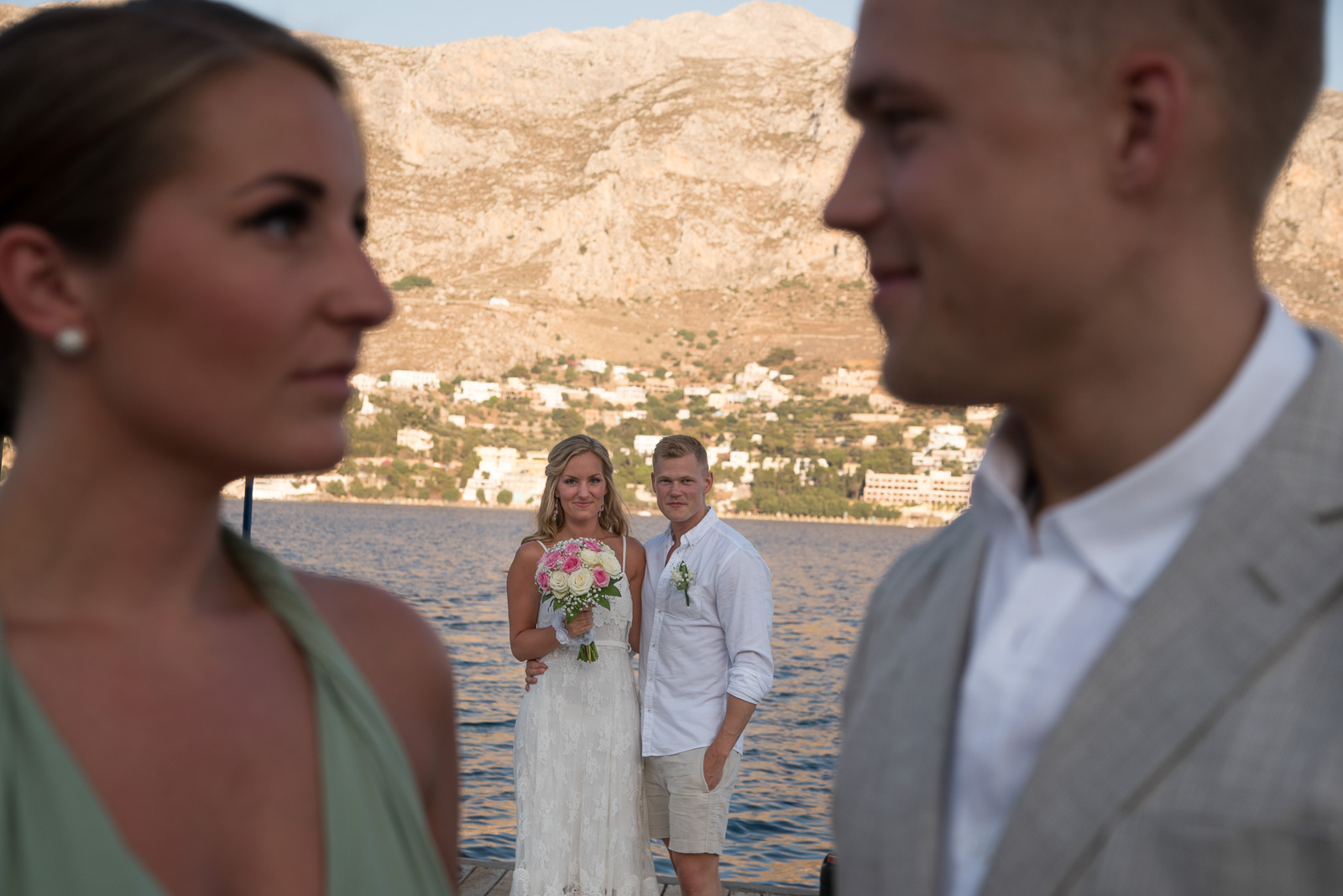 Amazing wedding photograph in Greece
