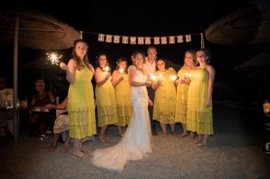 Wedding Reception in Santorini