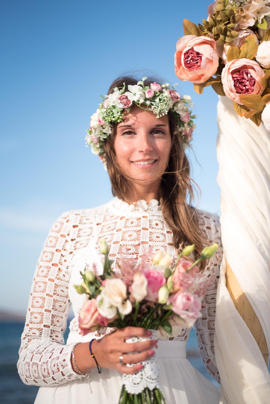 Wedding photographer in Greek island