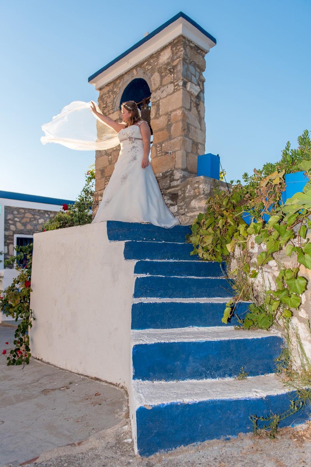 Dream wedding in Greek island