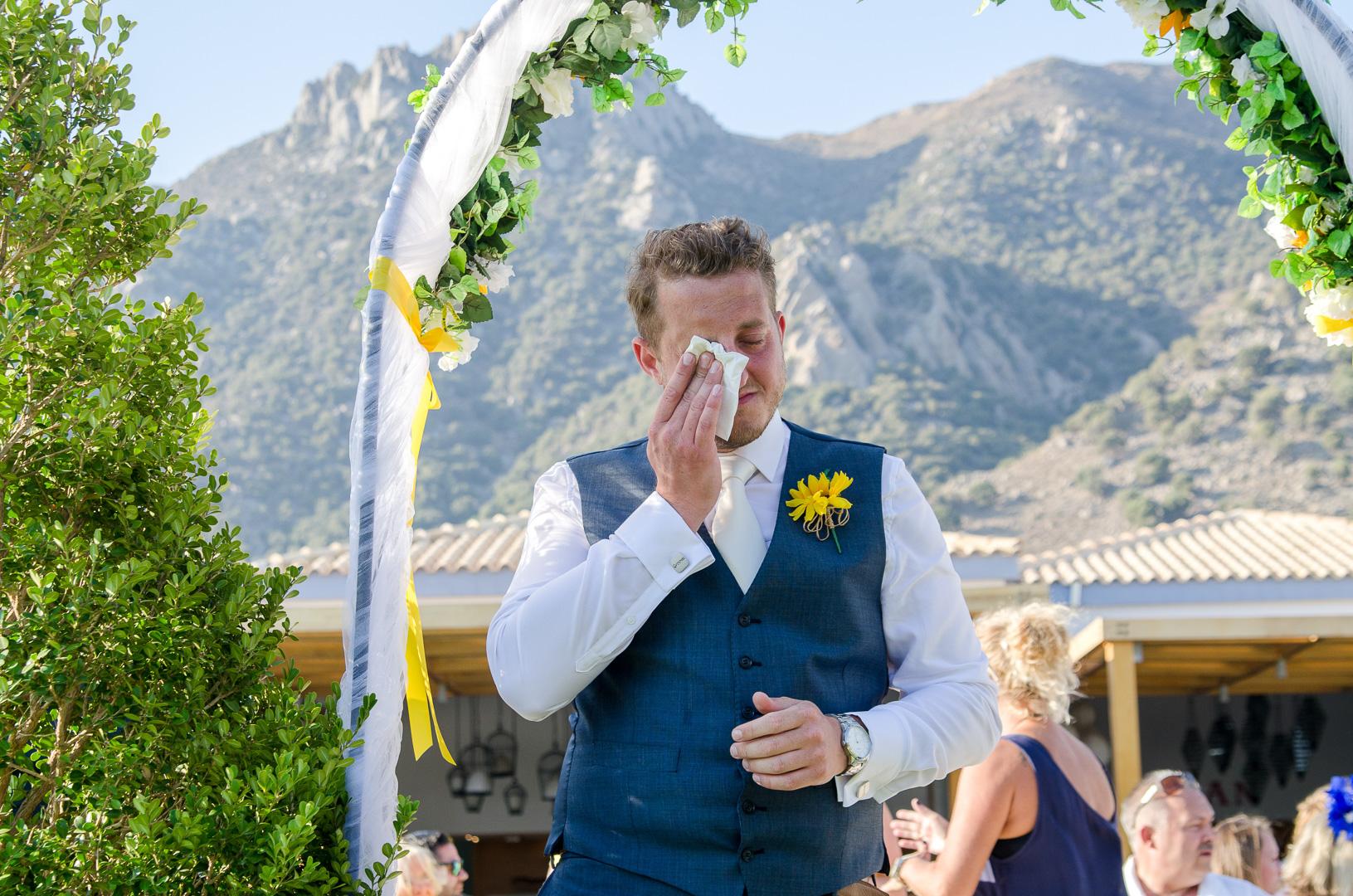 Wedding photo in Kos island, Blue Dome Mitsis hotel