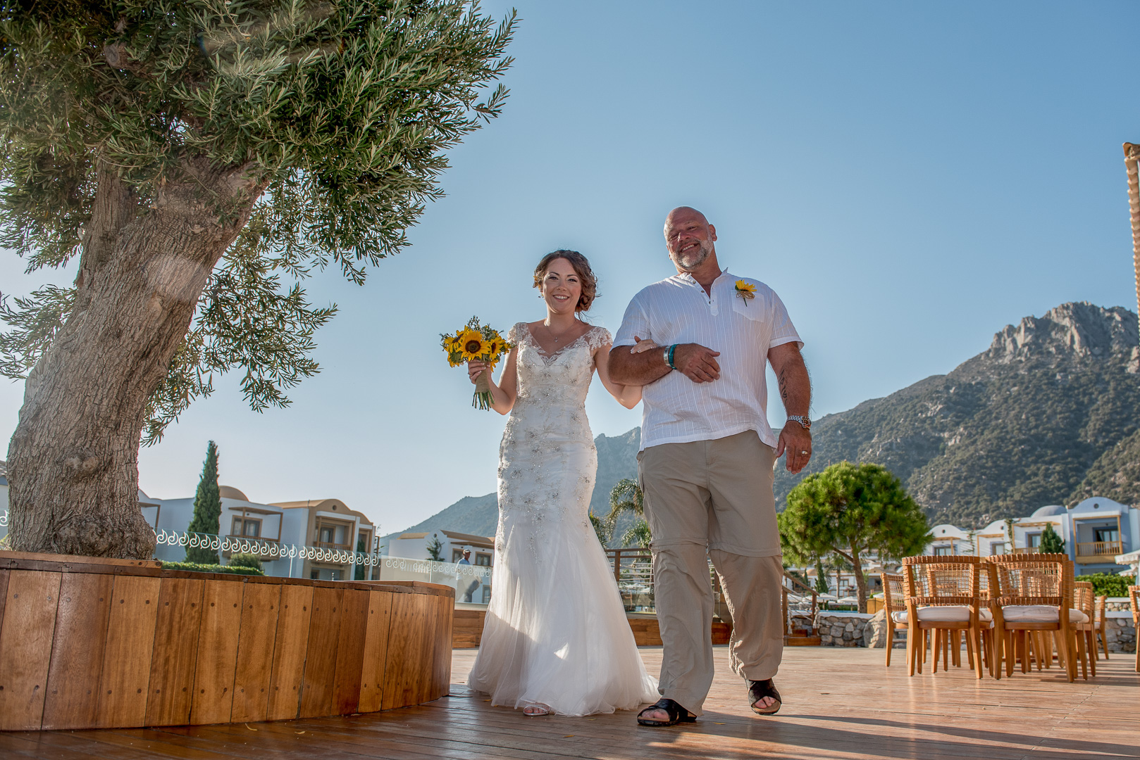 Wedding photo in Kos island, Blue Dome Mitsis hotel