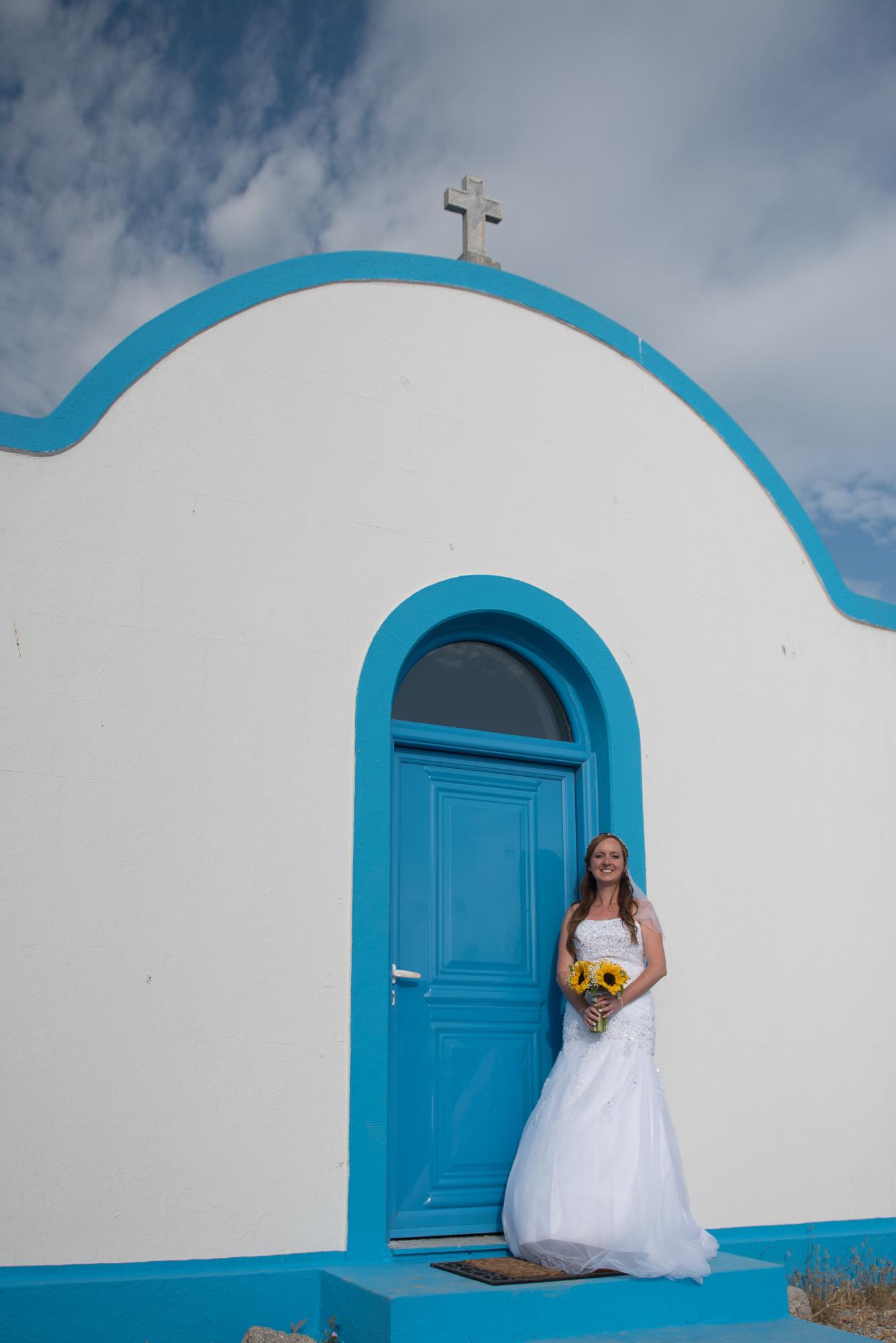 Wedding in Greek island